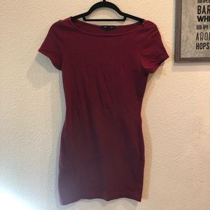 Maroon Forever 21 Body Con Dress